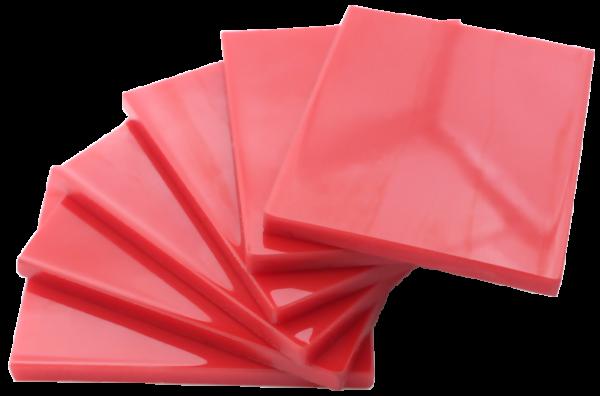 Placas com revestimento de poliuretano